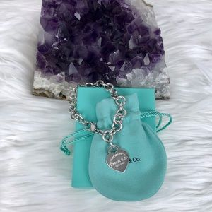 Tiffany & Co. Heart Pendant Bracelet